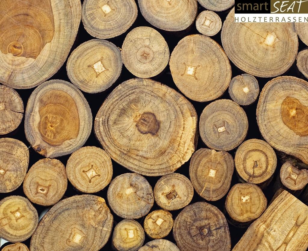 Teak Baumstamm Holzterrassen Bilder